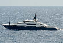 Alfa Nero Superyacht in Monaco, French Riviera
