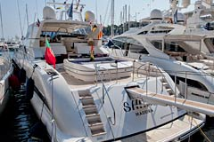 Monaco Yacht Show Motor Yacht Mangusta 107 SHANE previously owned by Johnny Holiday