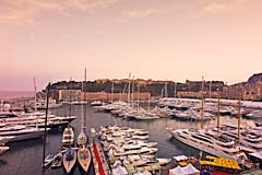 Monaco Yacht Show at Port Hercule in Monaco