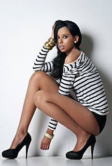 African Girl Photo Model has nice, long legs, perfect for elegant fashion shoots and for the catwalk