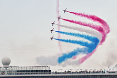 Red Arrows at Monaco Yacht Show, the Royal Air Force Aerobatic Team promote the professional British excellence in Monaco