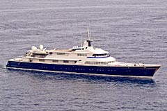 THE ONE luxury charter yacht, length 71.02m custom built in 1973 by Lürssen in Germany