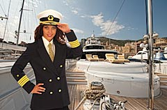 Yacht Photography with Photo Model SALIMA MAGICEYES in Monaco at the Monaco Yacht Show